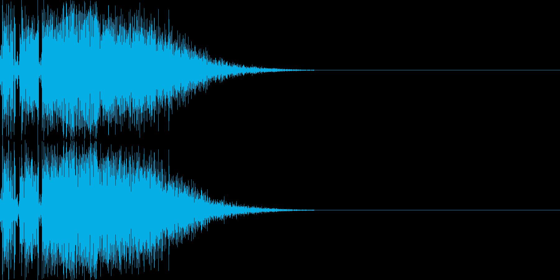 ジャブ(ビシッと軽い音)の再生済みの波形