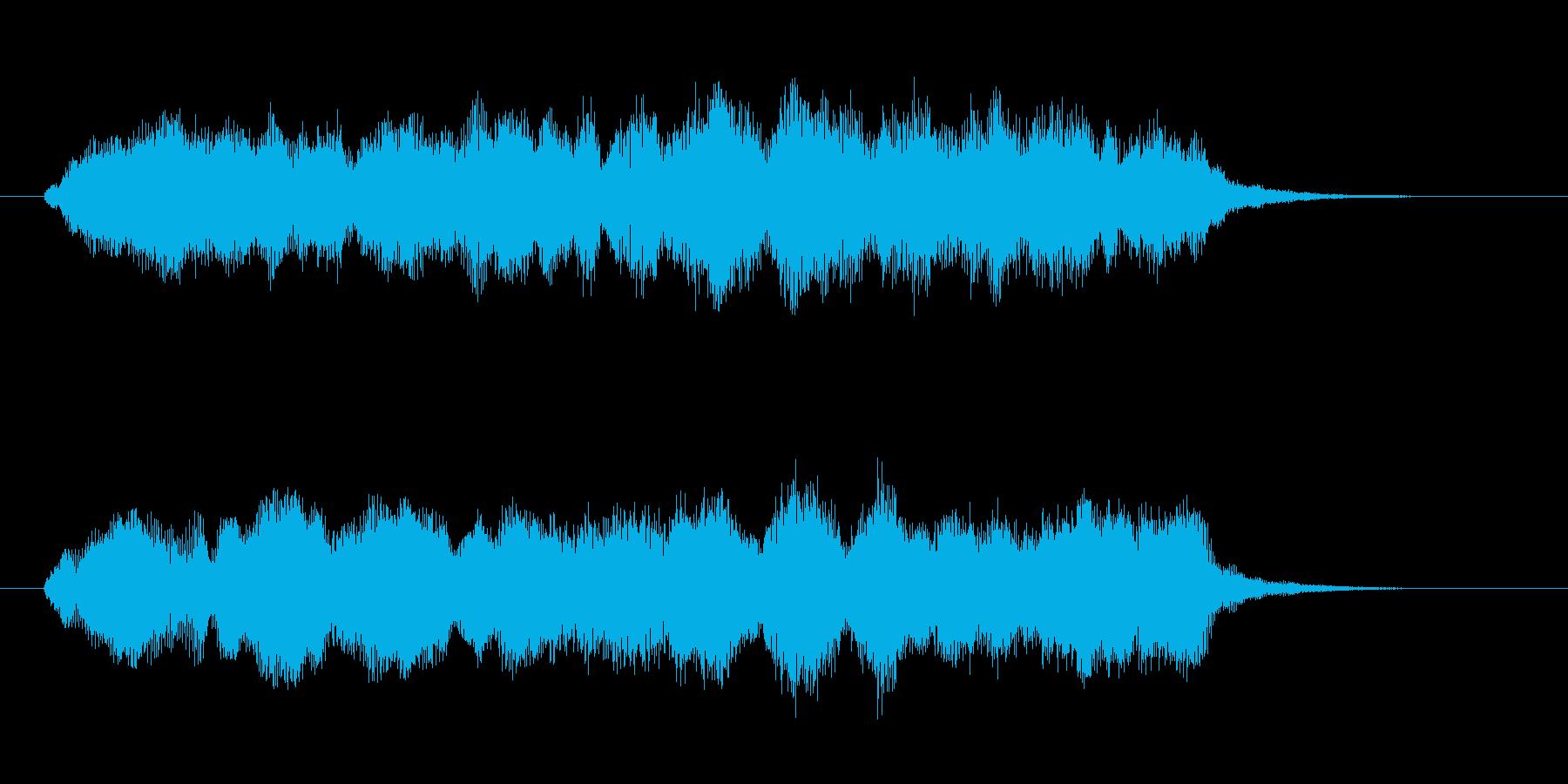 重厚で神秘的なストリングスの再生済みの波形