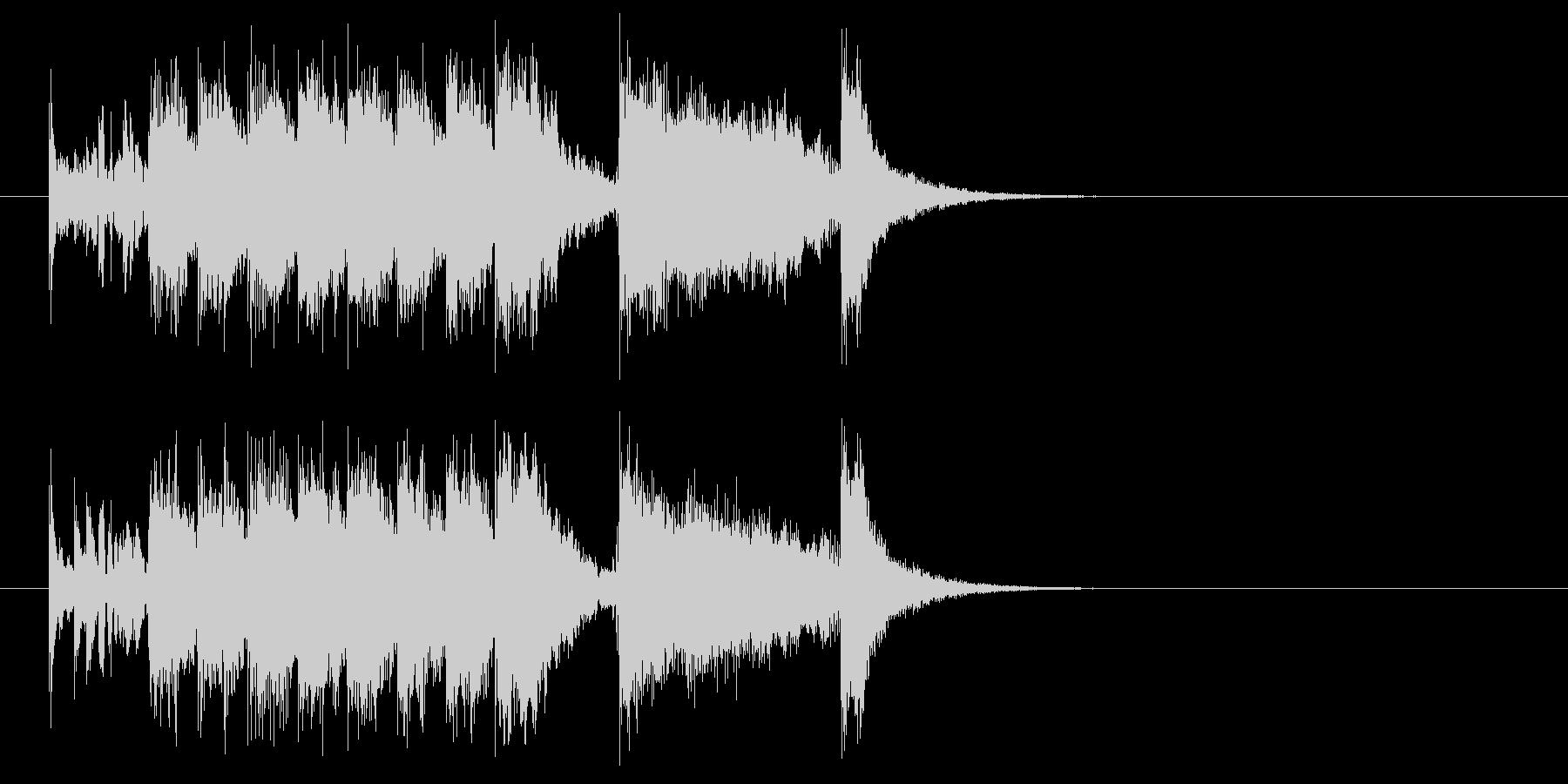 ジングル(スケール感)の未再生の波形