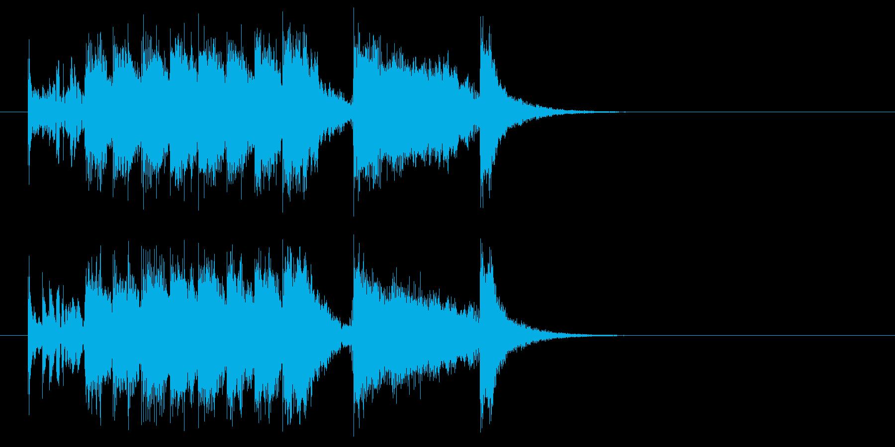 ジングル(スケール感)の再生済みの波形