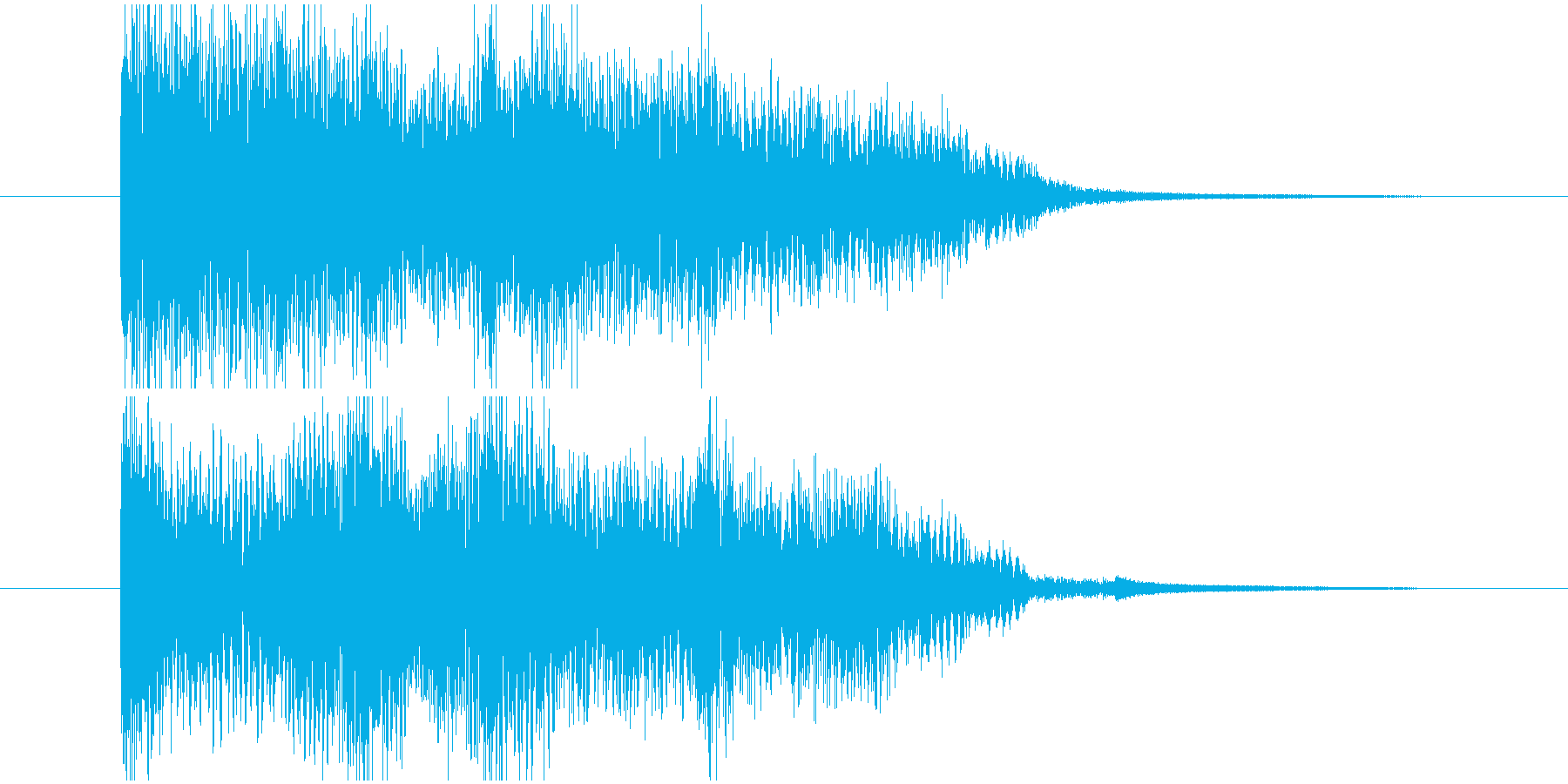 女性コーラス入りのサウンドロゴです。の再生済みの波形