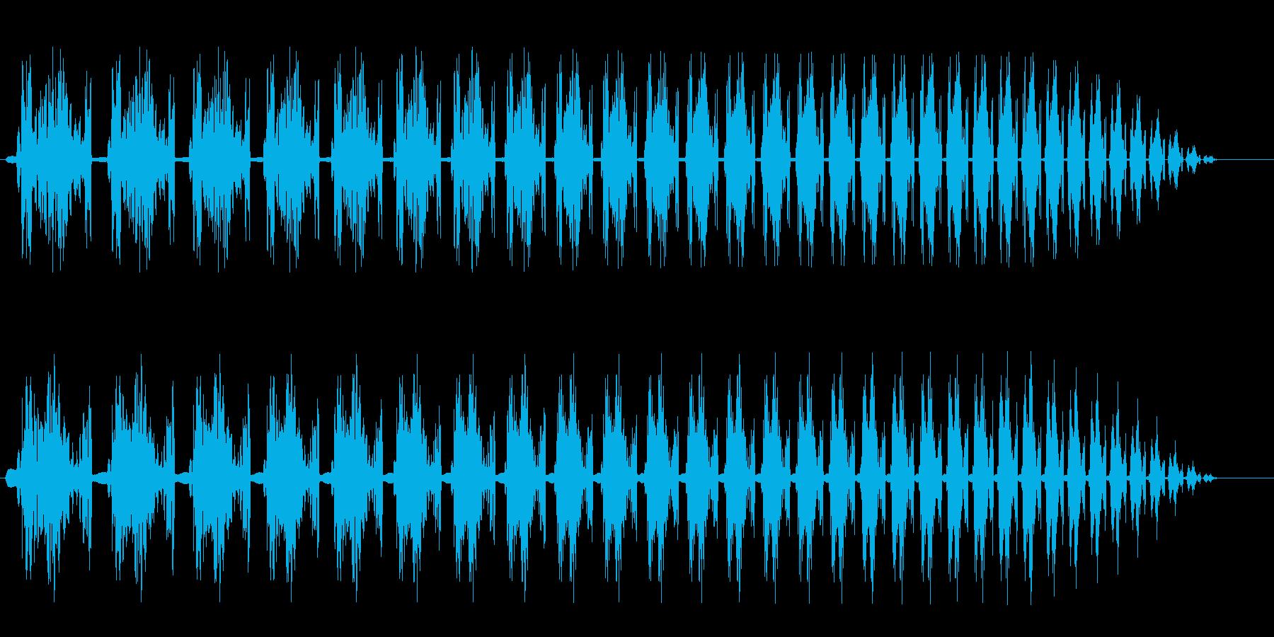 コミカル(プロペラ旋回音のような効果音)の再生済みの波形