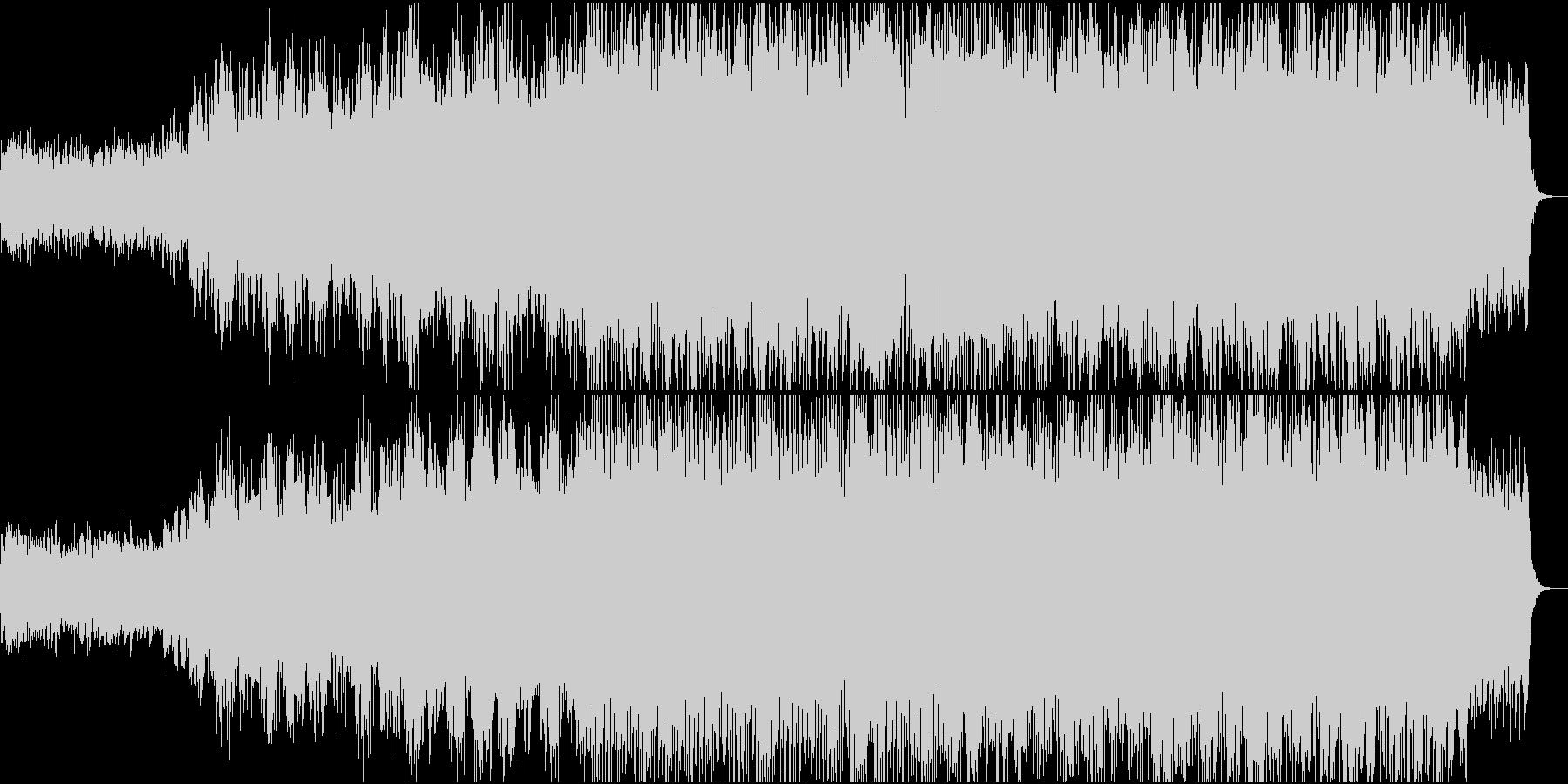壮大なオープニング映像、合唱コーラスの未再生の波形