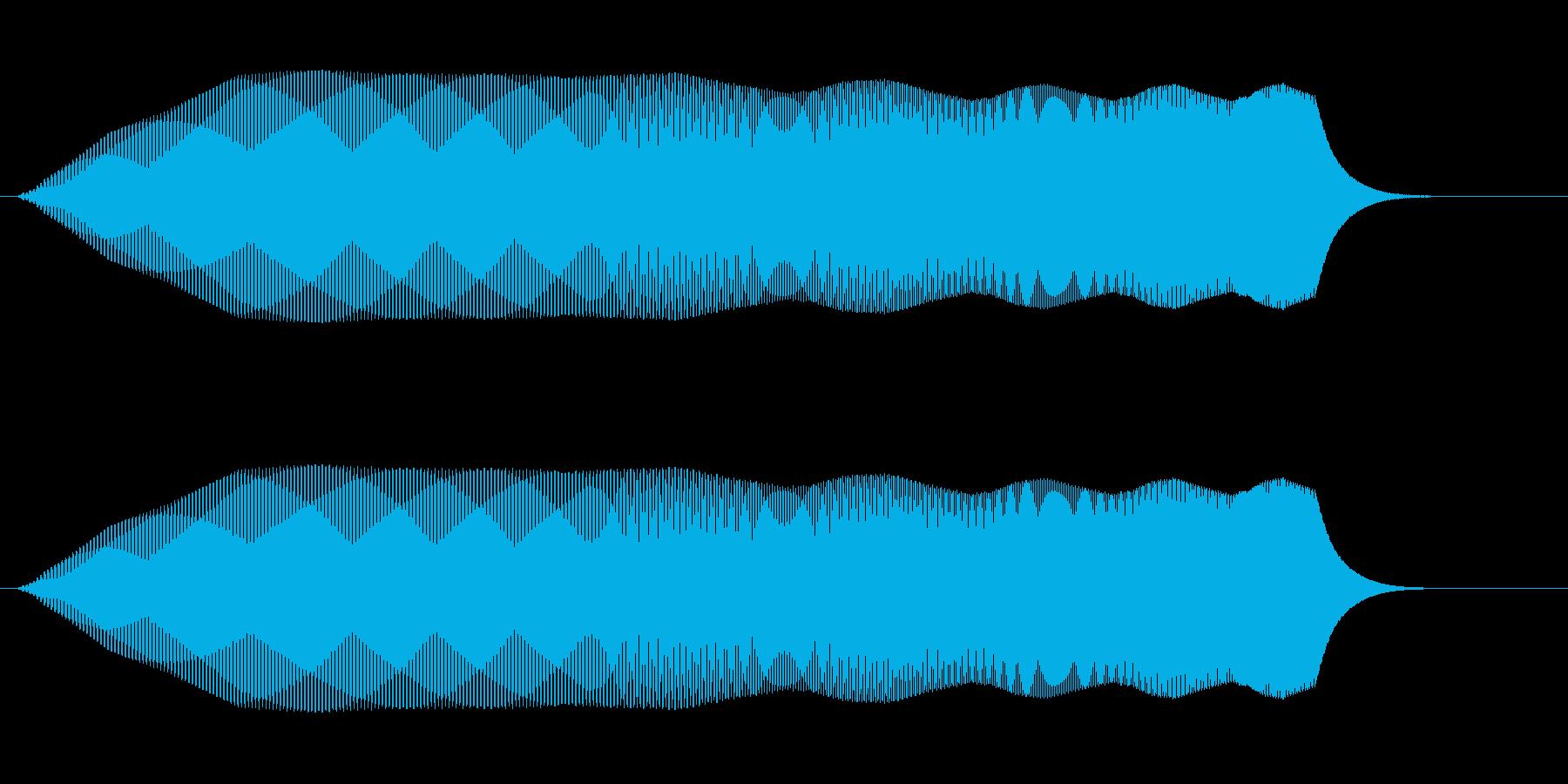 プ〜↑ンワ(素早く上昇する音)の再生済みの波形