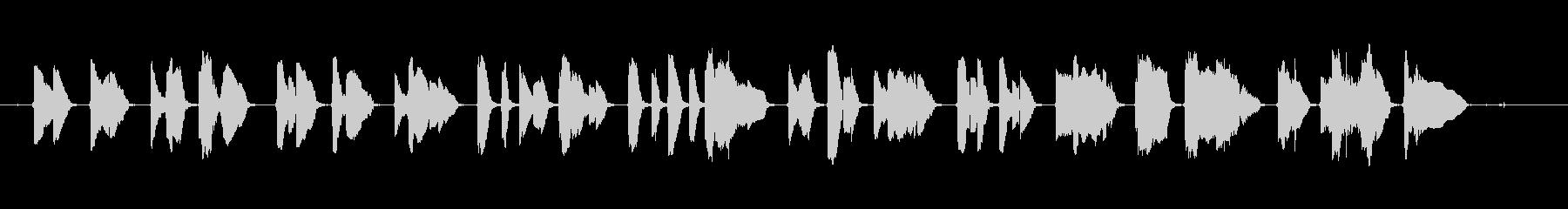 サックス1本で作りました。退廃的な曲で…の未再生の波形
