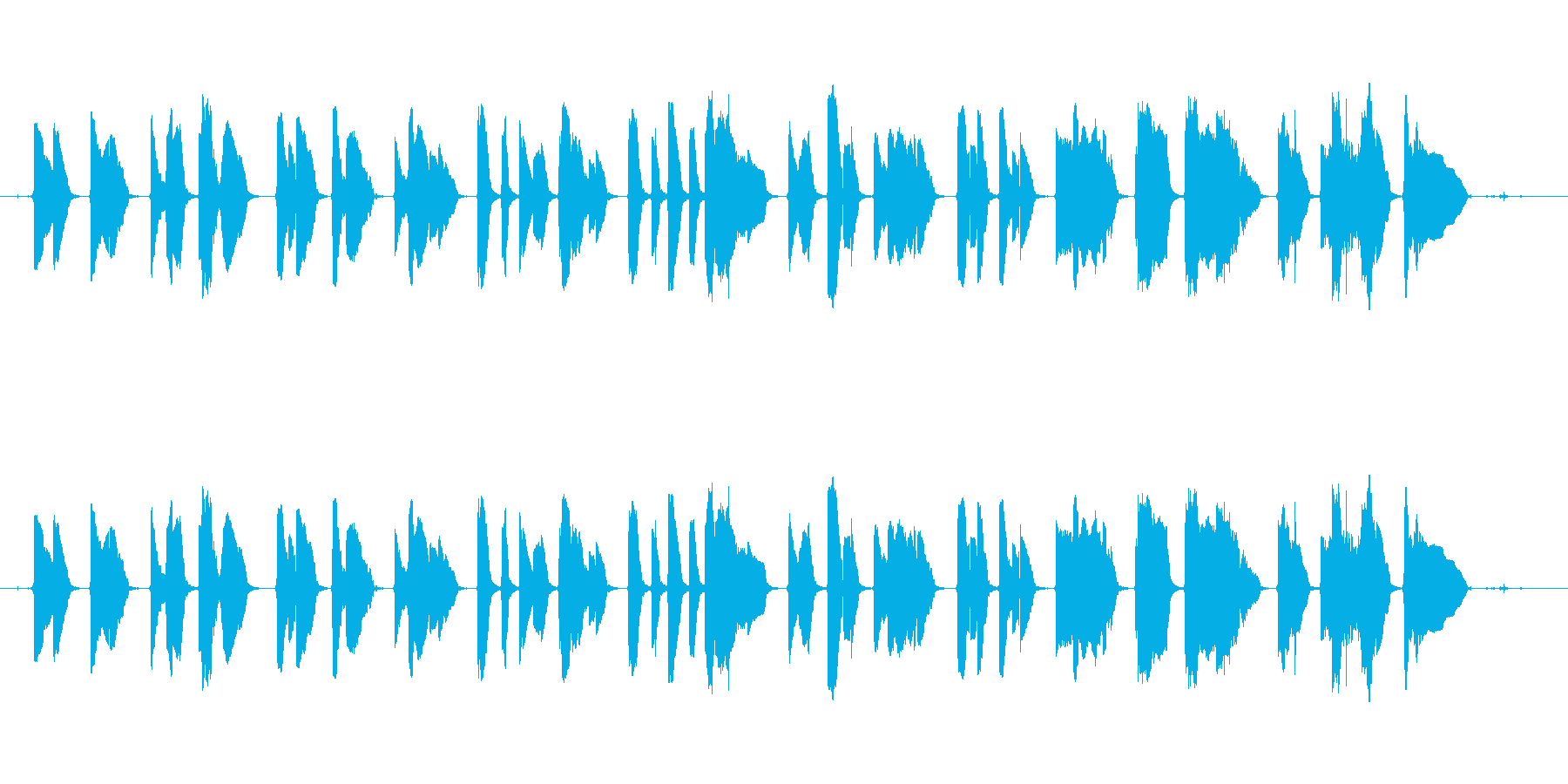 サックス1本で作りました。退廃的な曲で…の再生済みの波形
