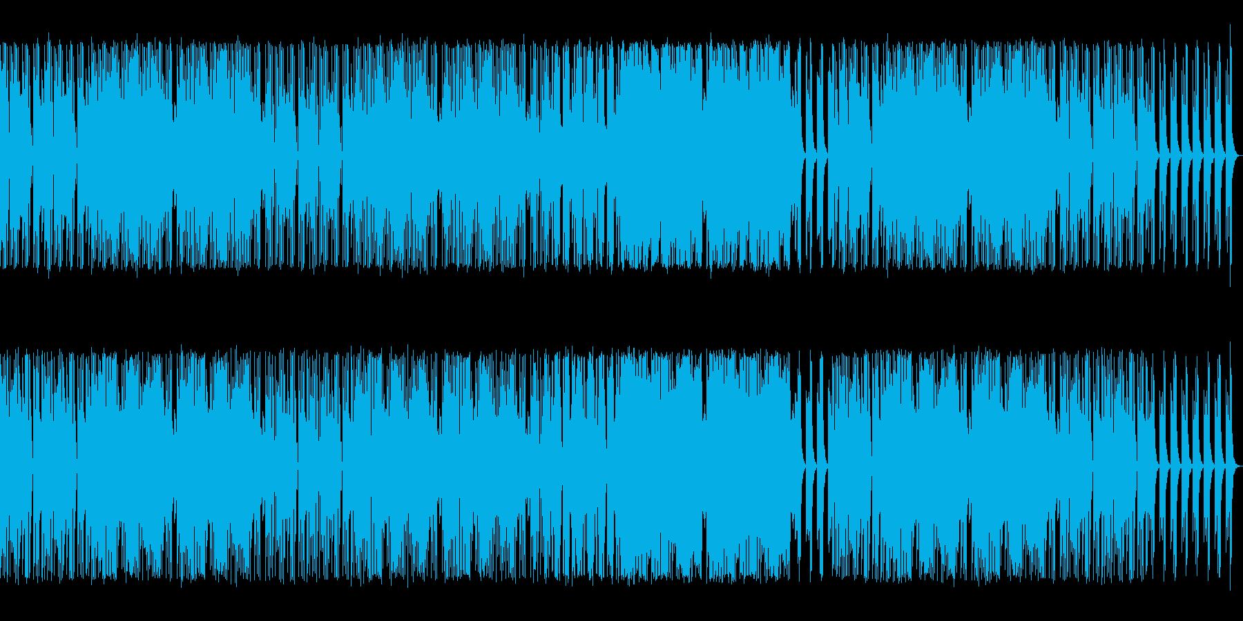 オルガン入りの再生済みの波形