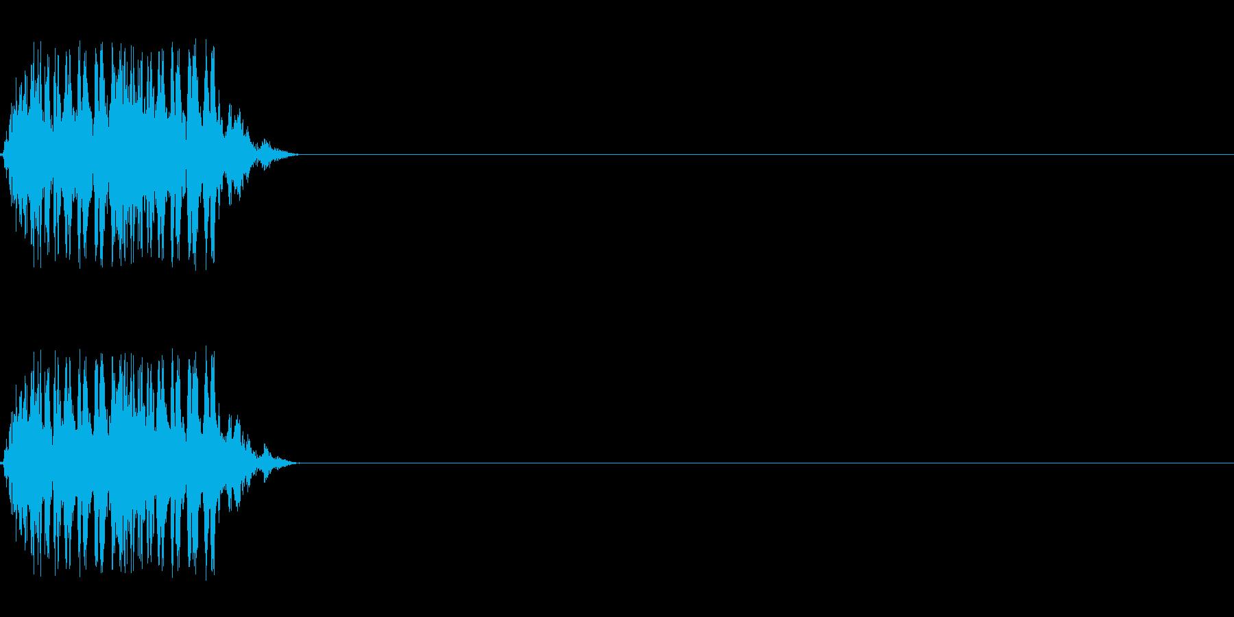 【レーザー01-2】の再生済みの波形