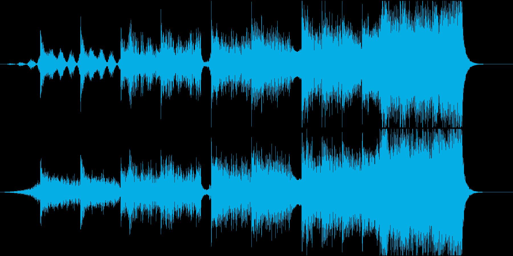 映画風ダークで壮大なBGMの再生済みの波形