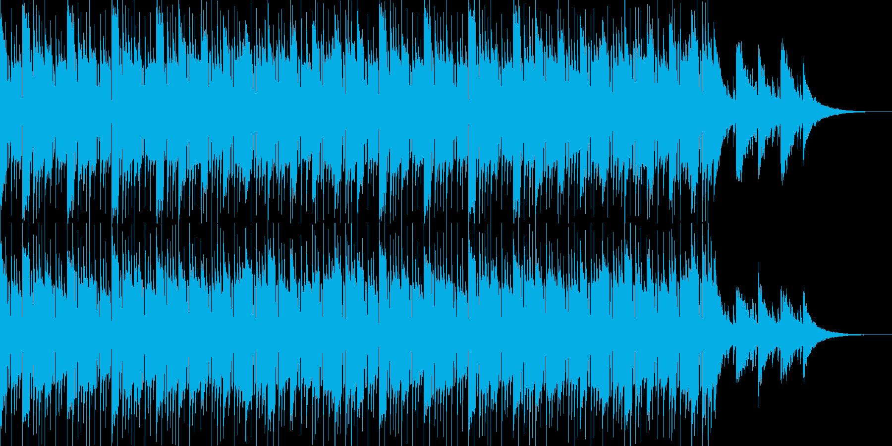 シロフォンとピアノの明るいポップスの再生済みの波形
