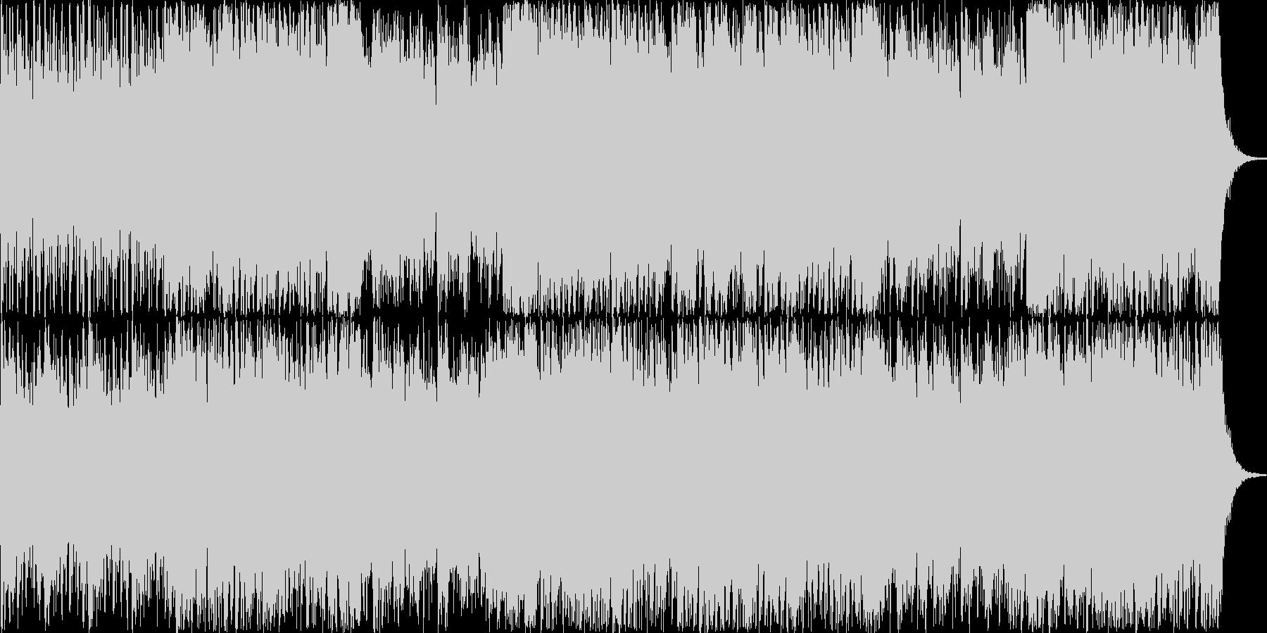 ストリングスメインの緊迫感のあるBGMの未再生の波形