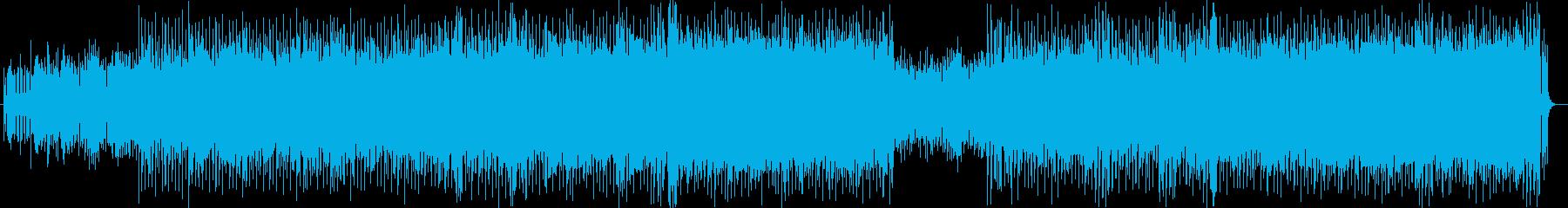 ポップでコミカルなシンセサイザーの曲の再生済みの波形