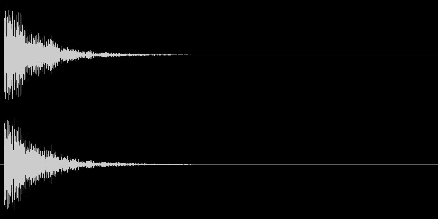 ジャンー(アジア風)の未再生の波形