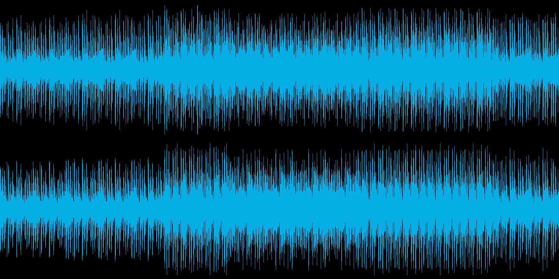 緊迫感のある低音オーケストラ ループ仕様の再生済みの波形