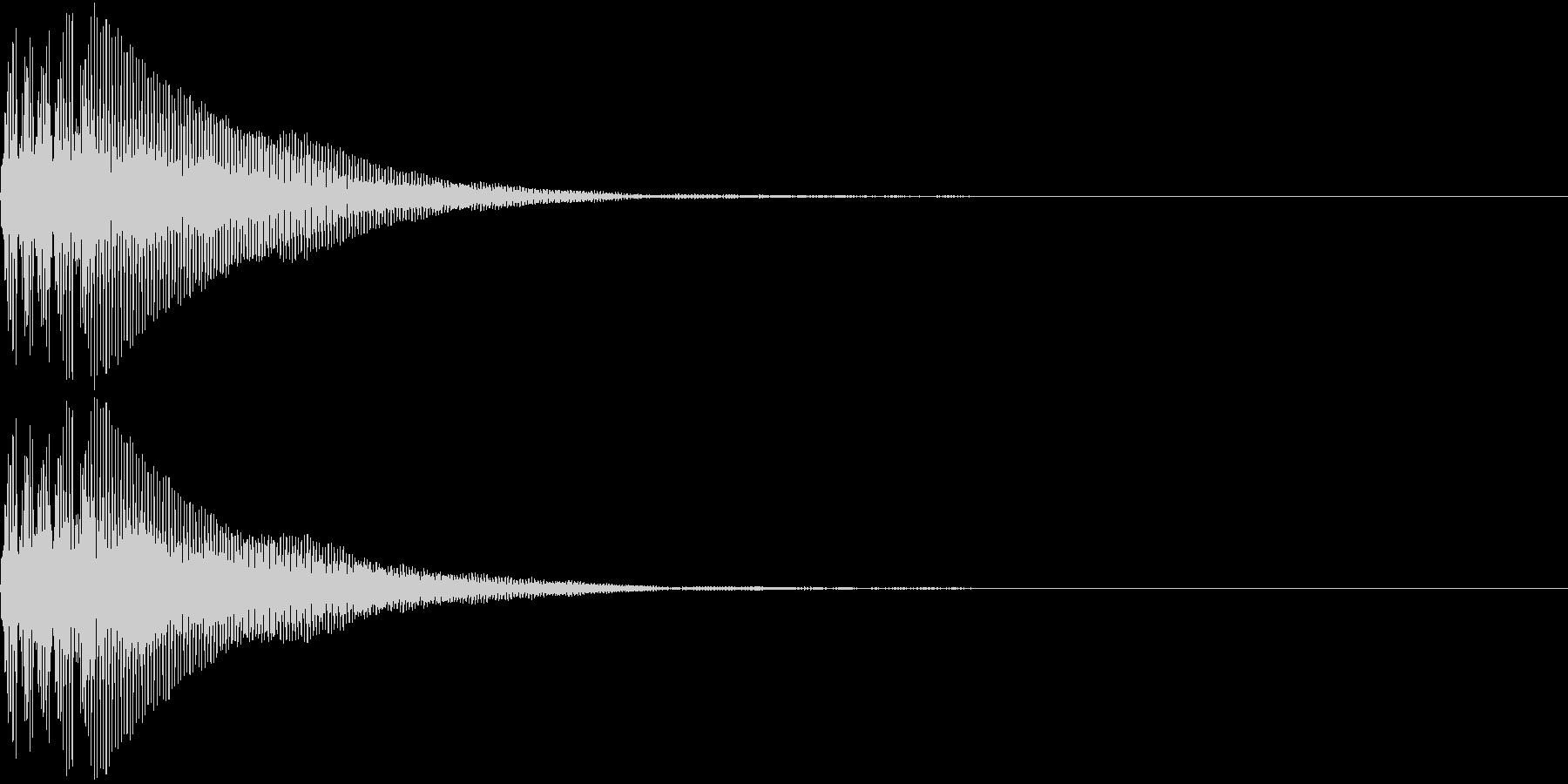 Battle 防御音 バリア アクションの未再生の波形