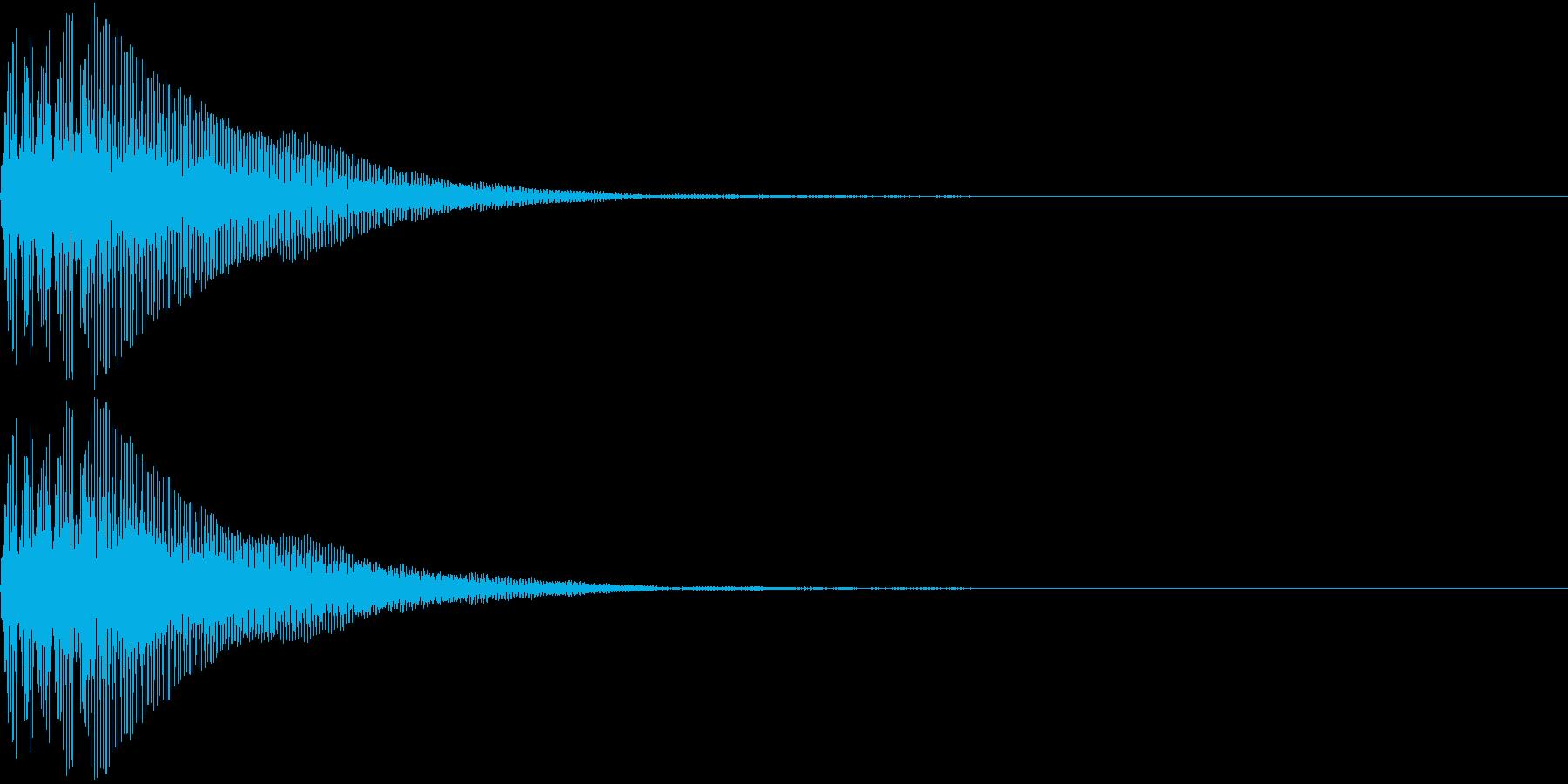 Battle 防御音 バリア アクションの再生済みの波形