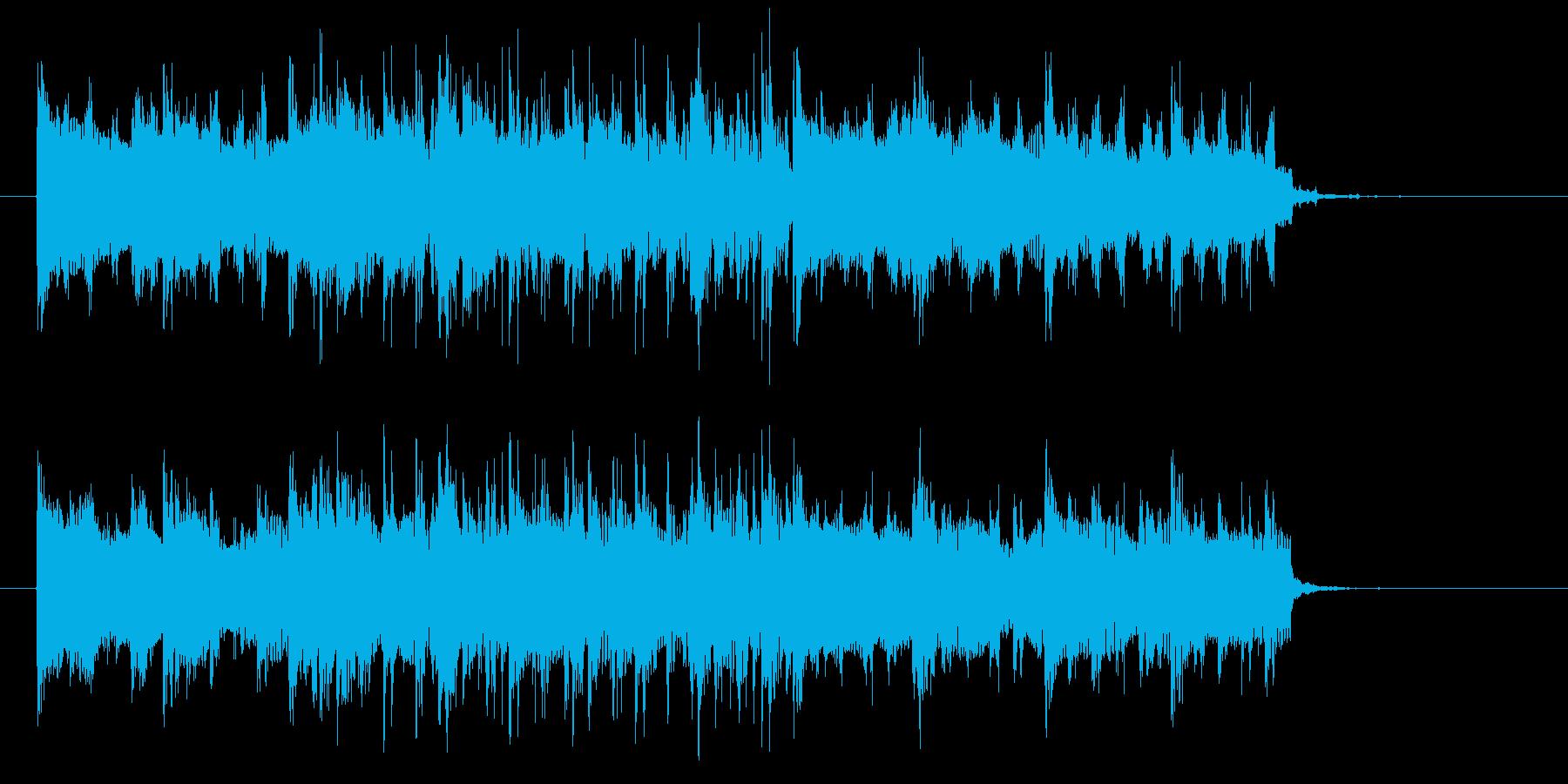 活力があるショートミュージックの再生済みの波形