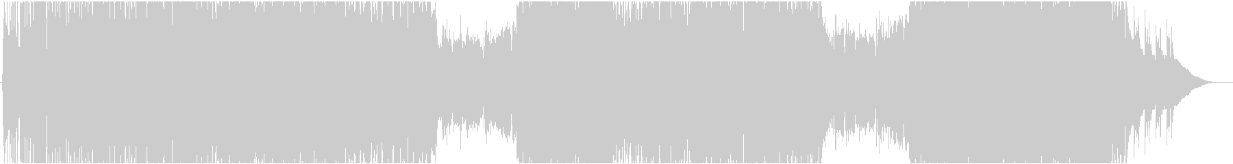 生演奏。4つ打ち系アコギロックの未再生の波形