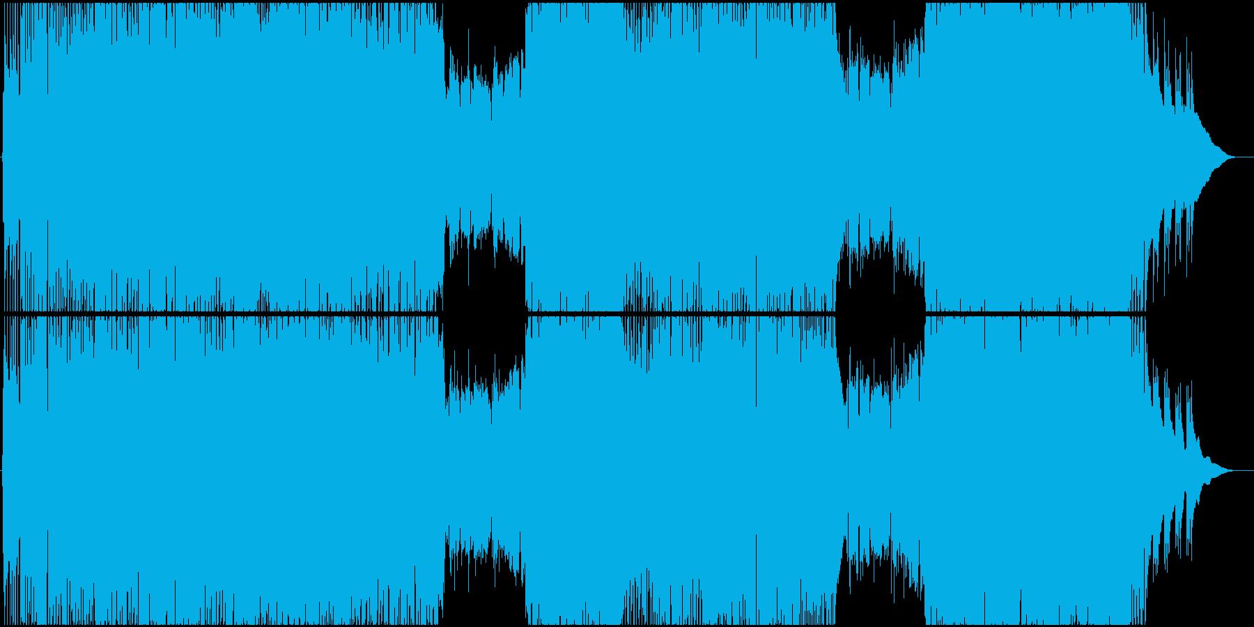 生演奏。4つ打ち系アコギロックの再生済みの波形