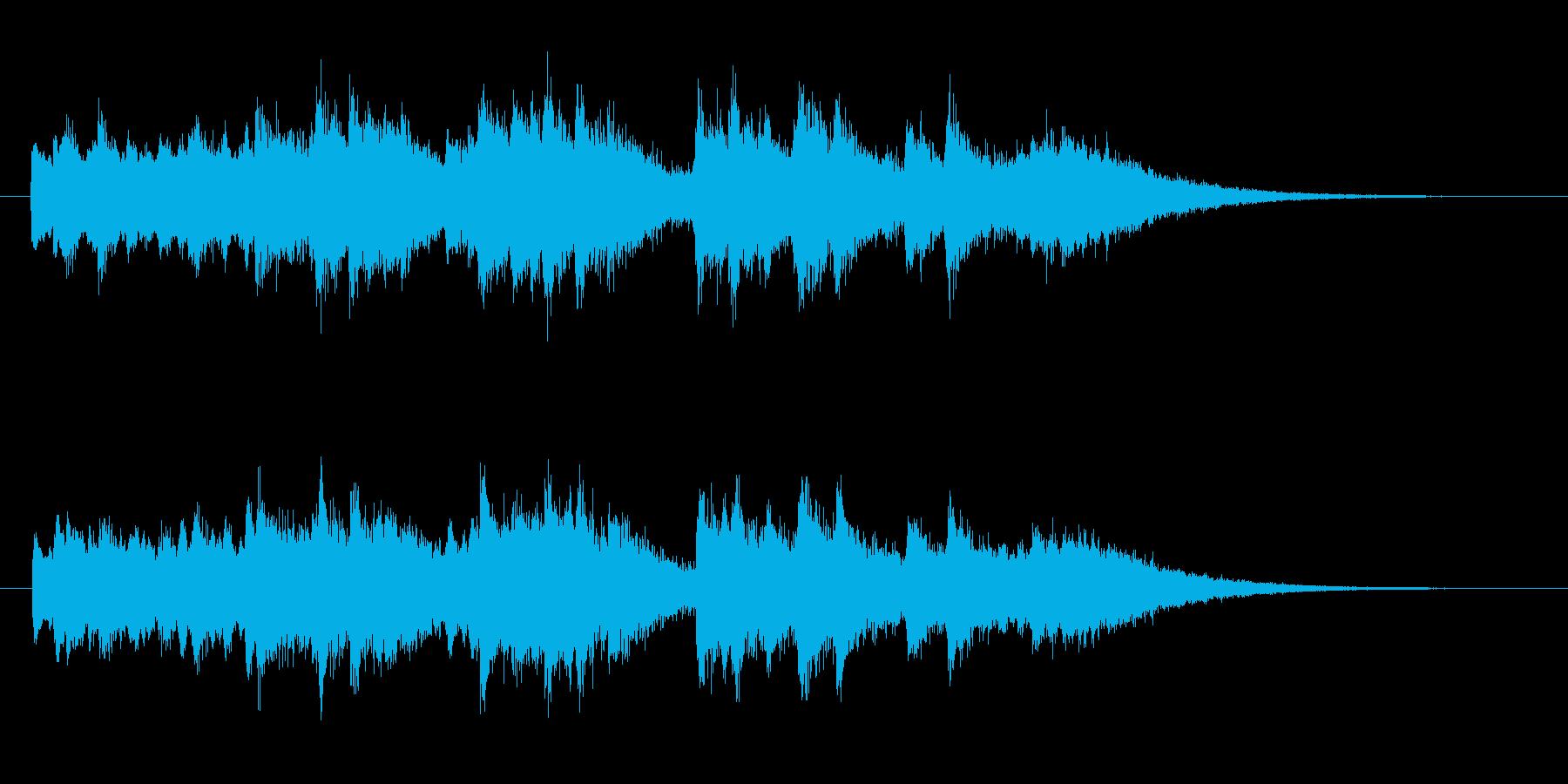 お誕生日の歌 ジャズコードの再生済みの波形