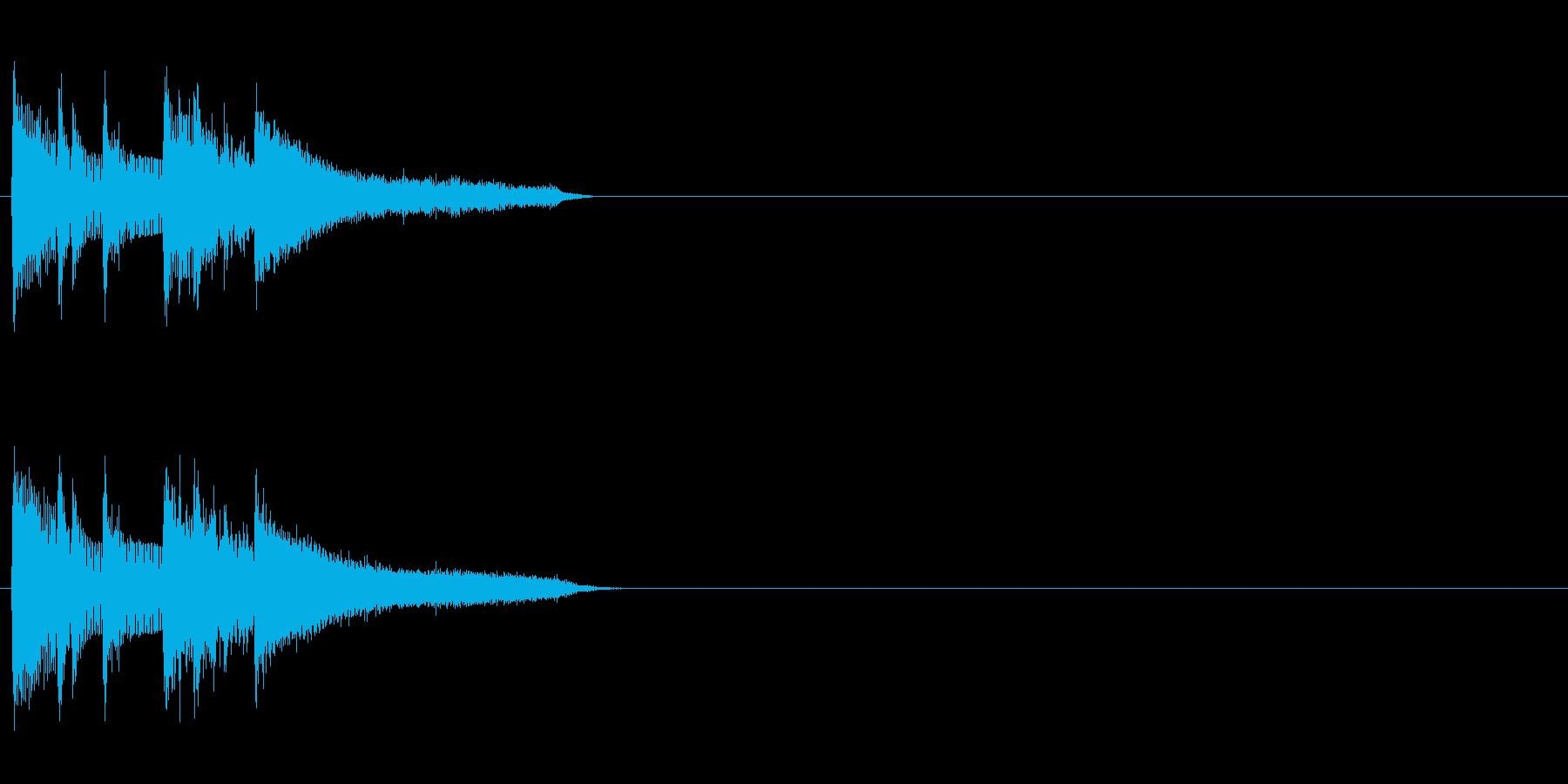 アタック 場面転換 おしゃれ 軽快 情報の再生済みの波形