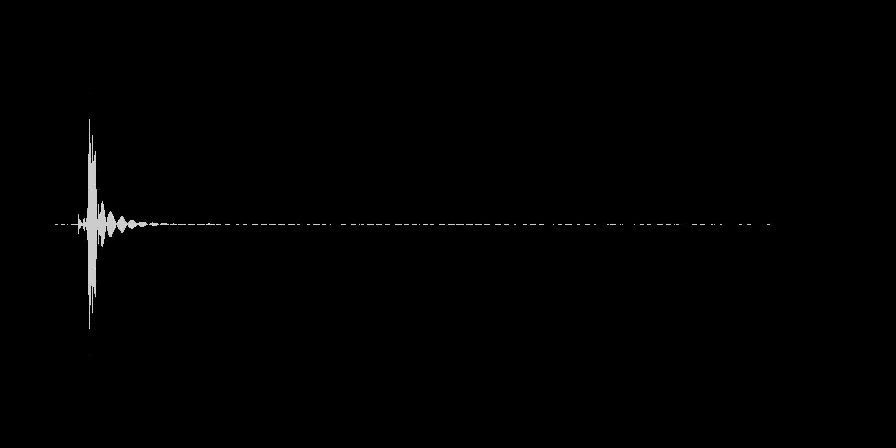 シュボッ(着火石ライター)の未再生の波形