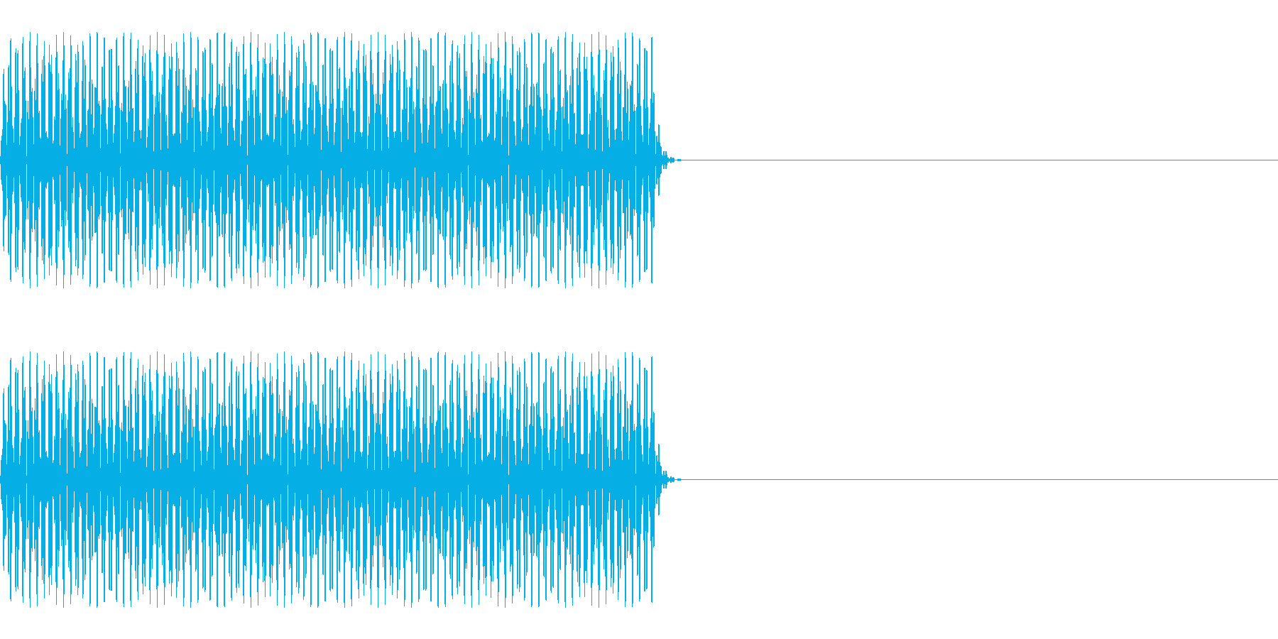 FX・SE/電話/ボタン音/海外風/#3の再生済みの波形