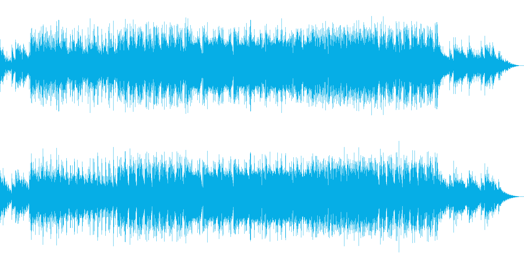水の流れのような癒しのBGMの再生済みの波形