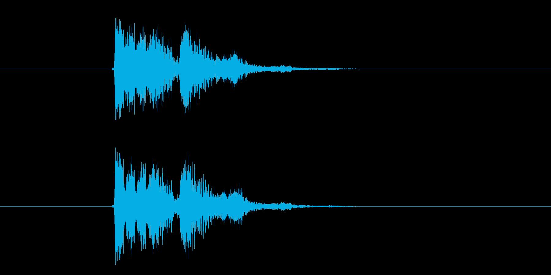 コミカルボイス音(妖精、アニメ)の再生済みの波形