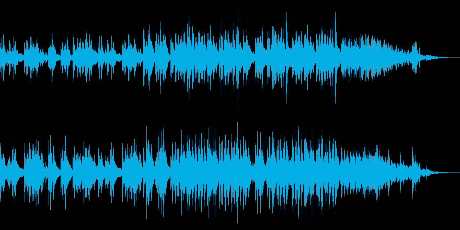 美しいピアノとシンセサイザーの旋律の再生済みの波形