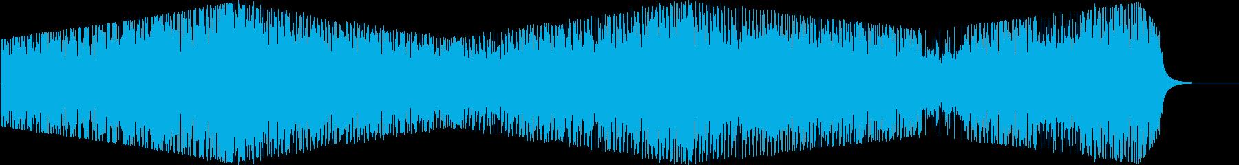 ストリングスの優雅でポップな雰囲気の曲の再生済みの波形