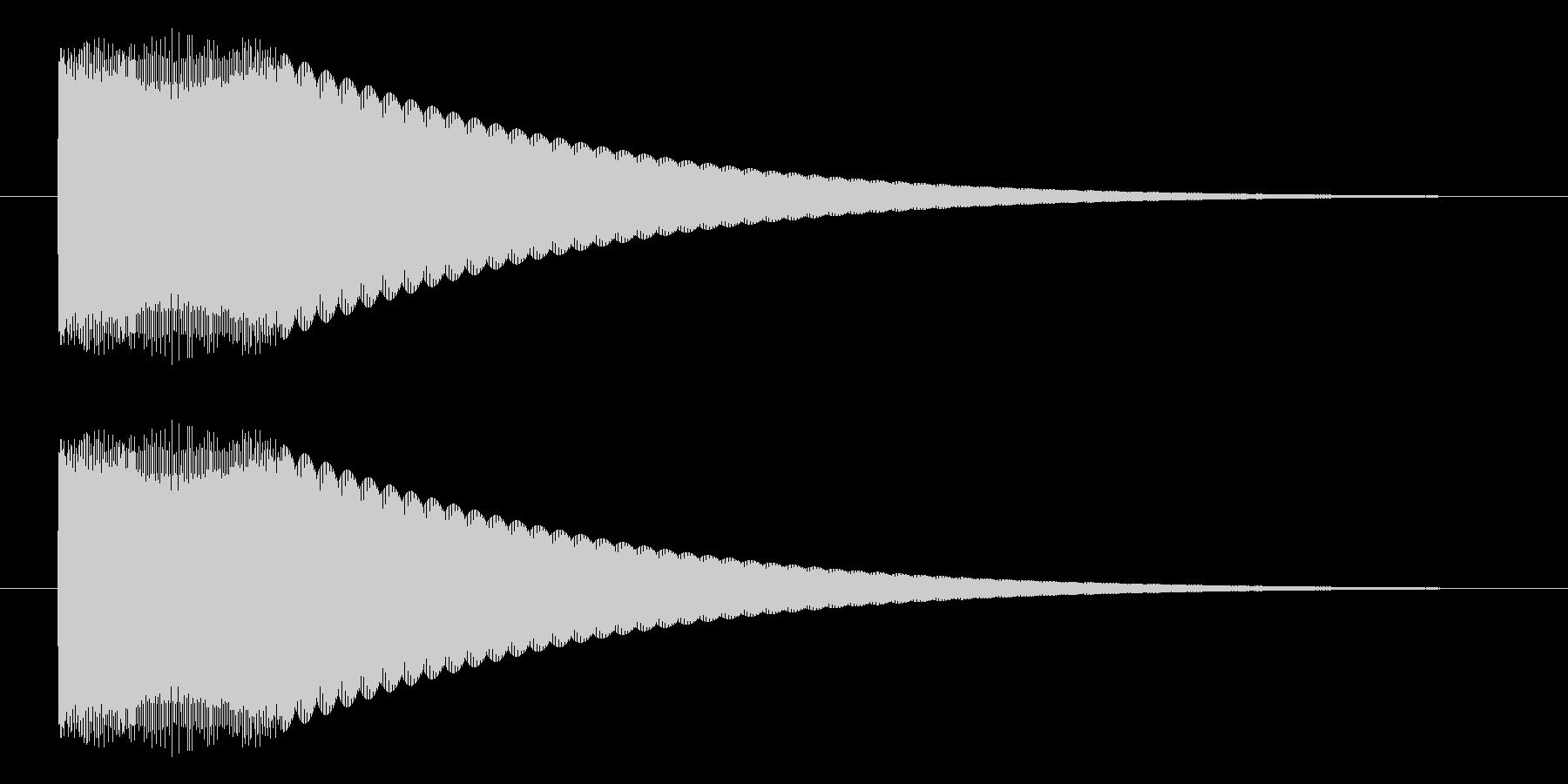 キュピーン/光る/豆電球の未再生の波形