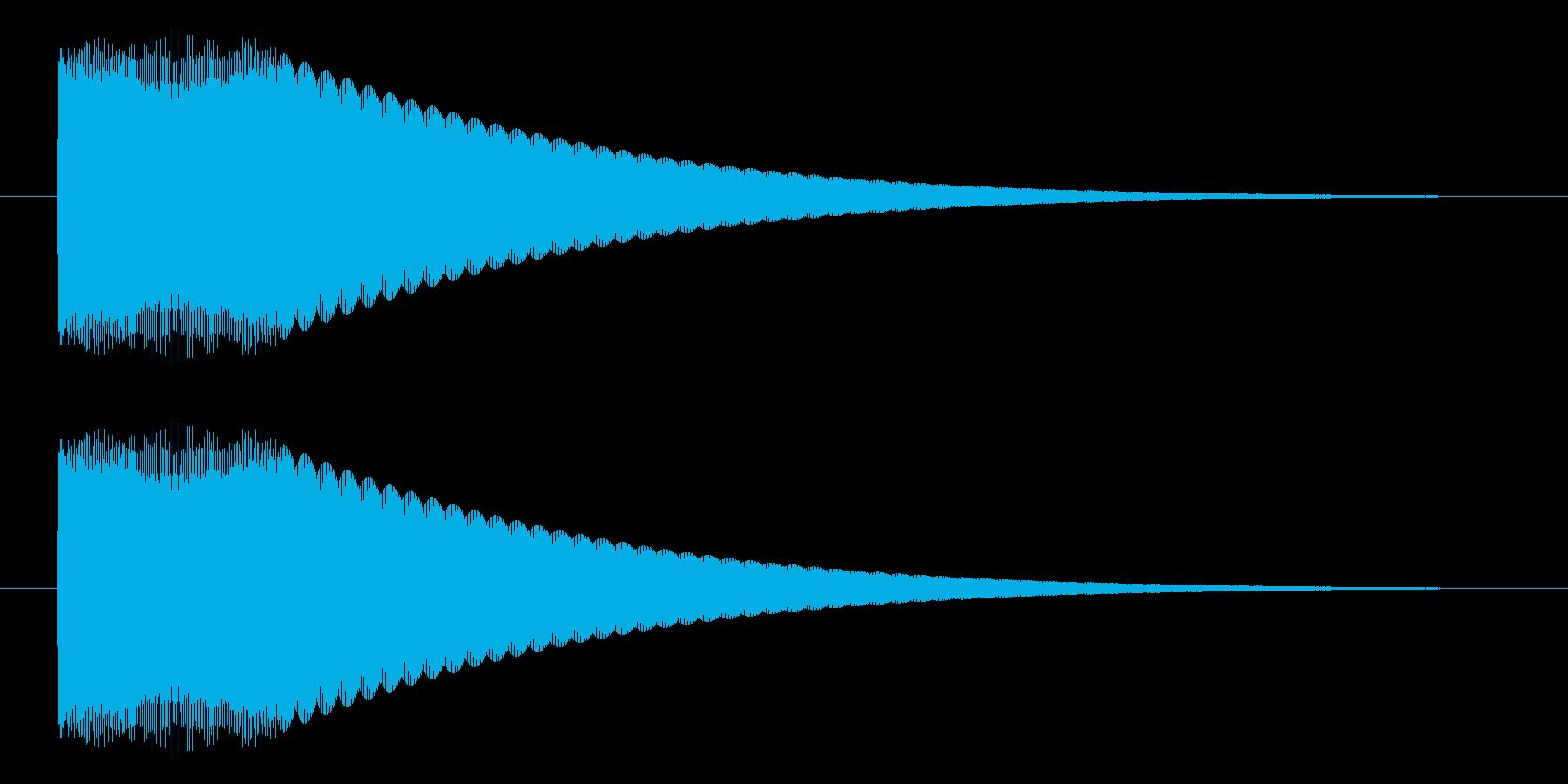 キュピーン/光る/豆電球の再生済みの波形