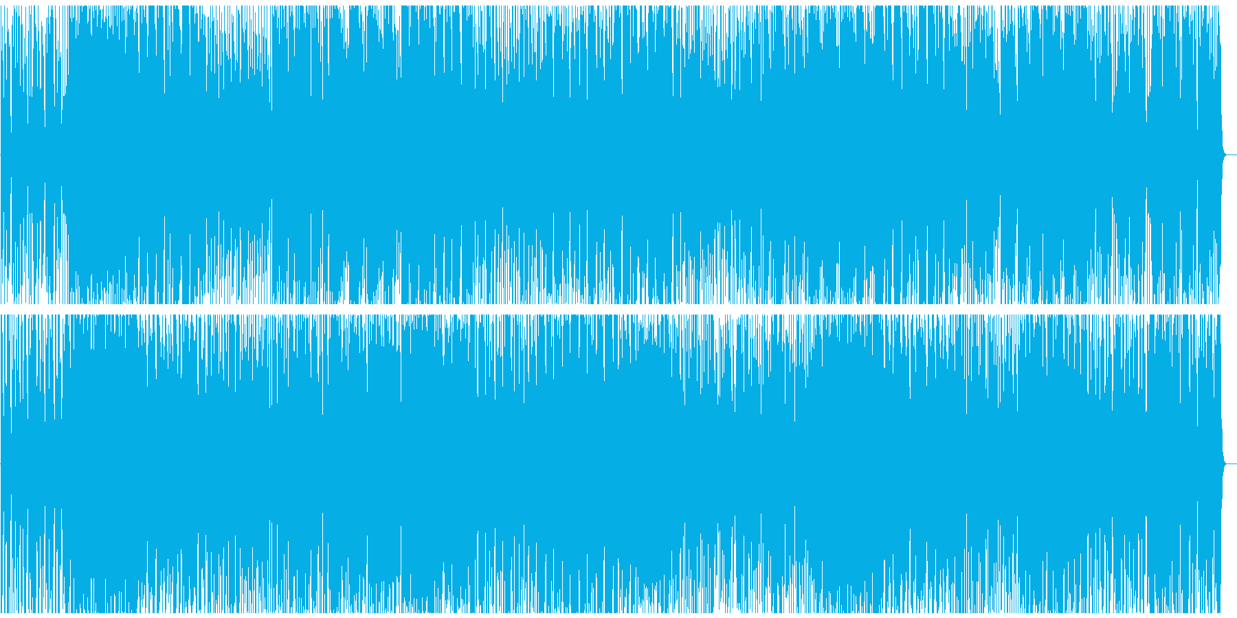 ドラマなどにある壮大なオーケストラ楽曲の再生済みの波形