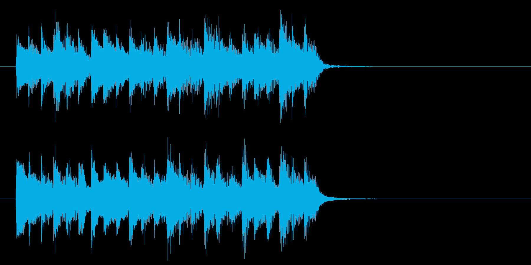 神秘的な森の中のようなBGM_ループ用2の再生済みの波形
