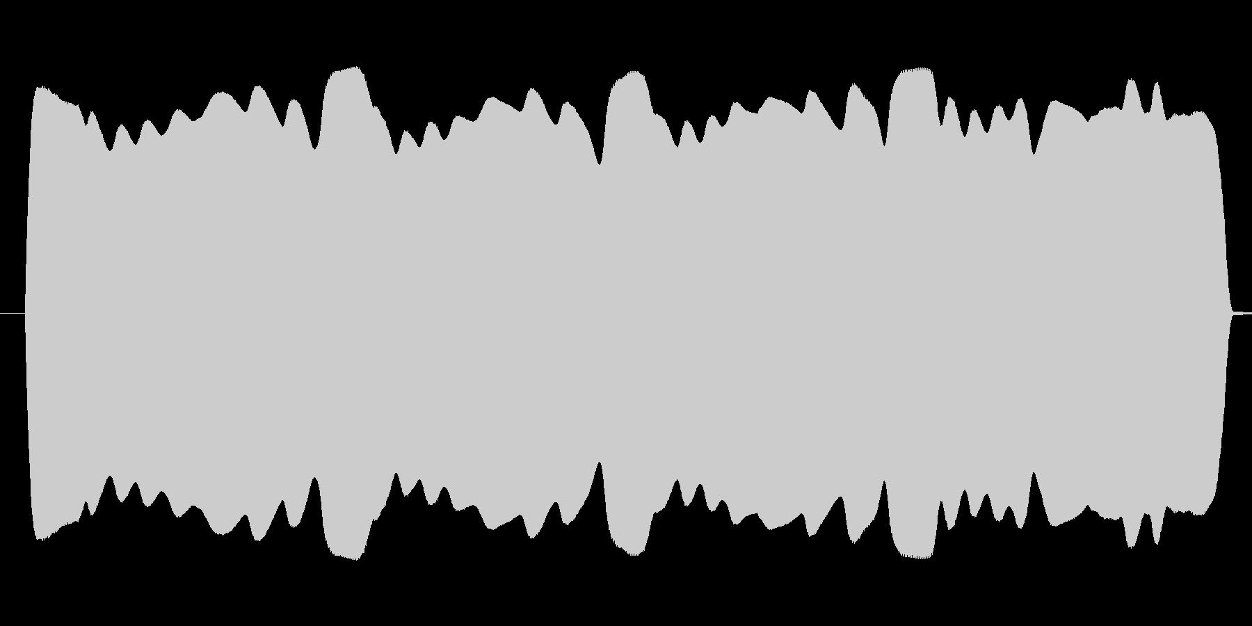 ブワンブワンまわるテルミン高音域寄りの未再生の波形