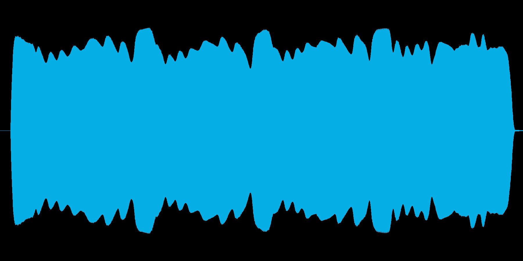ブワンブワンまわるテルミン高音域寄りの再生済みの波形
