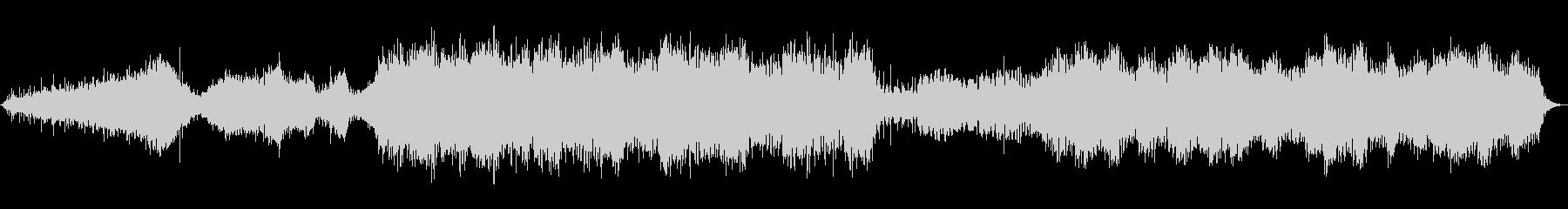 水の音とソルフェジオ周波数の癒しのBGMの未再生の波形