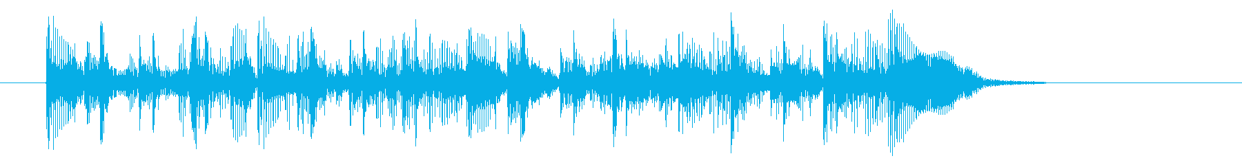 ドラムとベースがメインの渋めロックの再生済みの波形