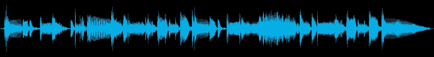 ベース スラップフレーズ ジングルの再生済みの波形