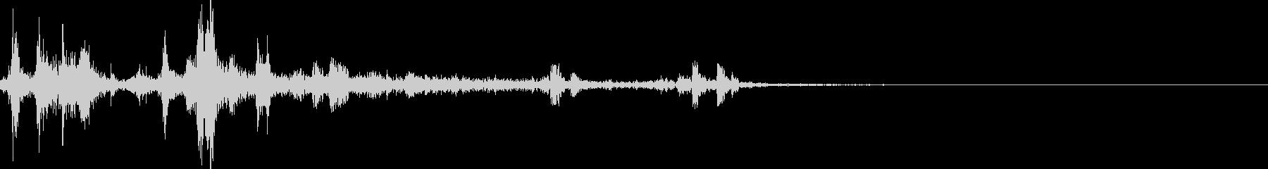 カメラのシャッター音(ウィンウィン)の未再生の波形