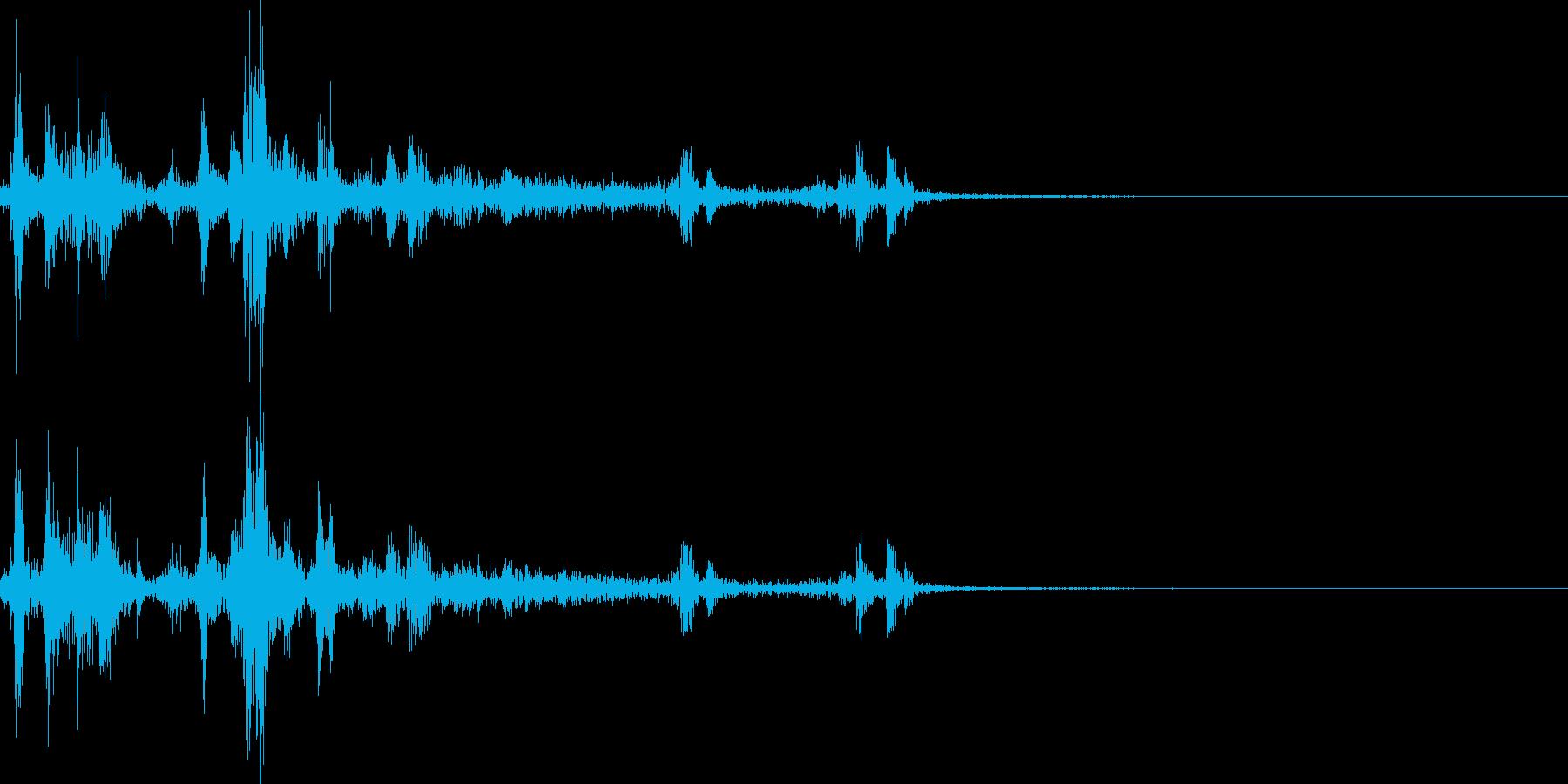 カメラのシャッター音(ウィンウィン)の再生済みの波形