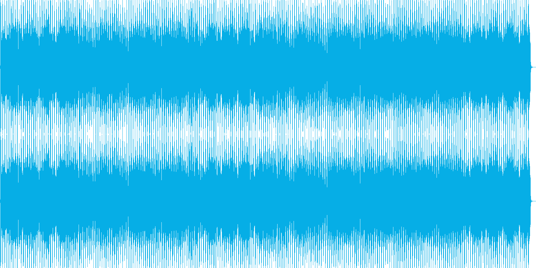 和とダンスビートの再生済みの波形