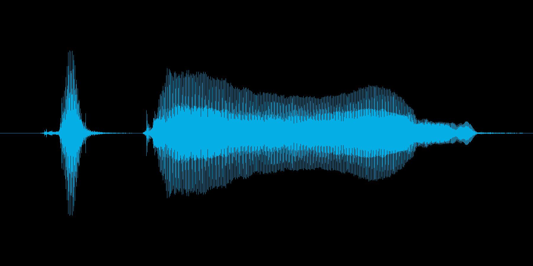 【ボイスSE】カキーン!の再生済みの波形