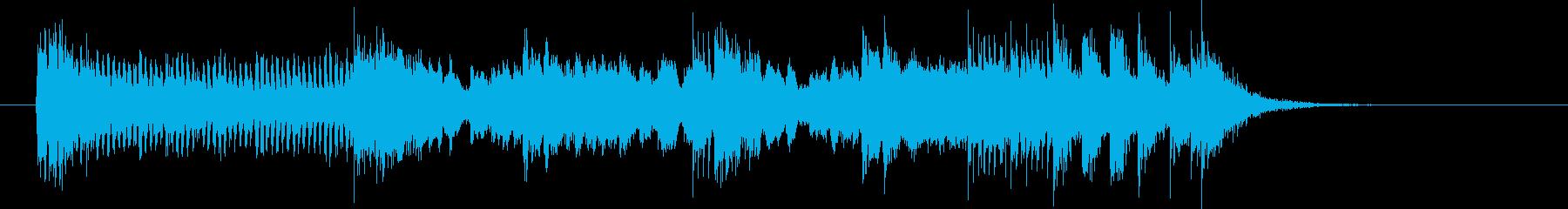 現代的なテクノとロックの融合の再生済みの波形