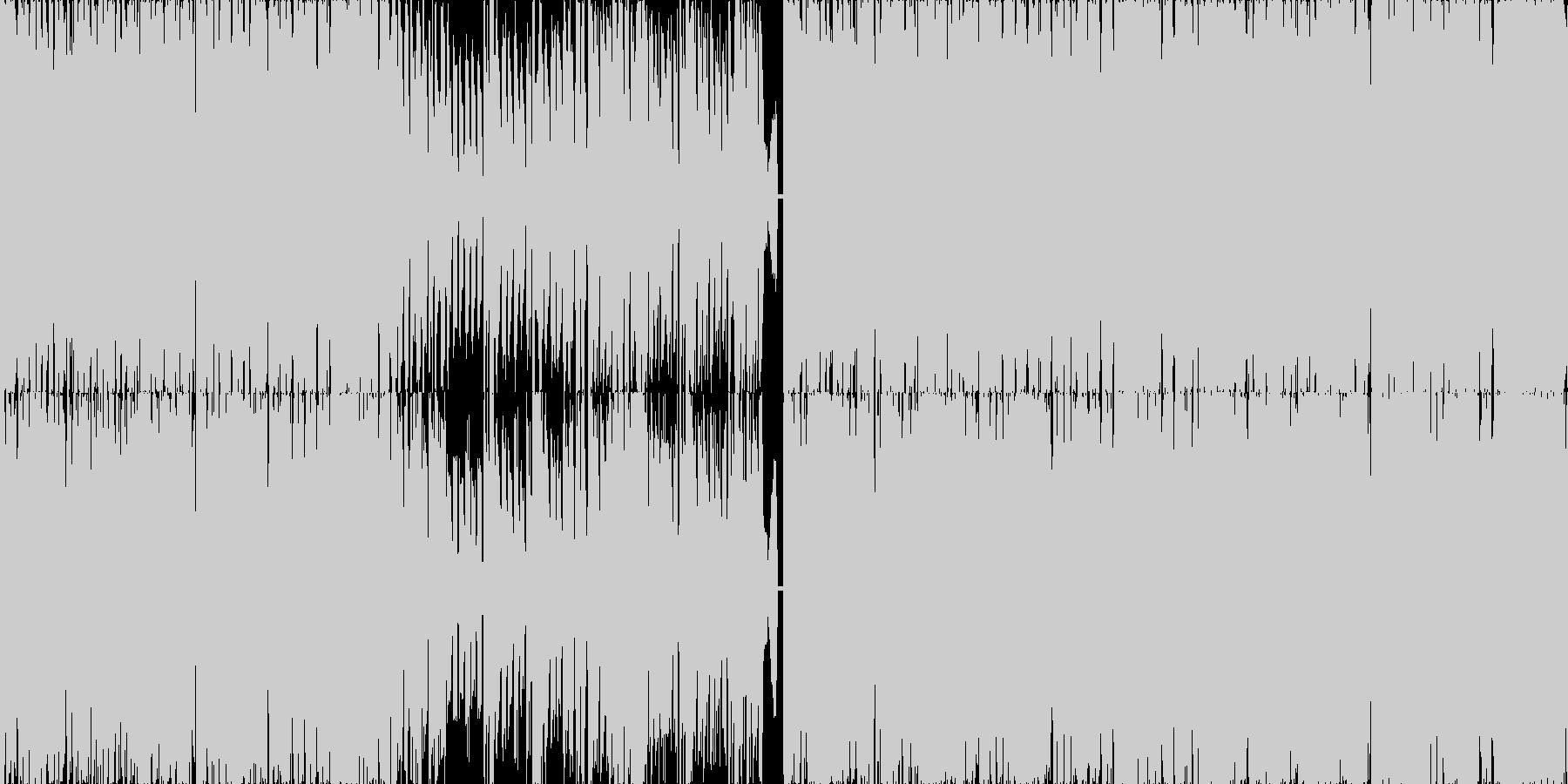 【ループ対応】テクノポップなダンス曲の未再生の波形