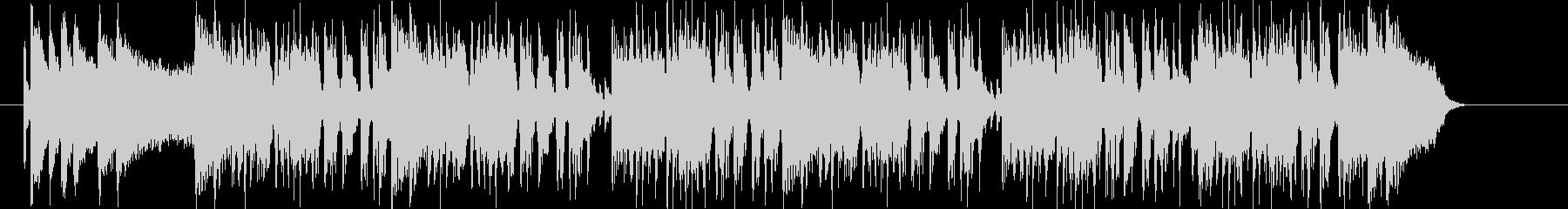 アップテンポなロックナンバーの未再生の波形