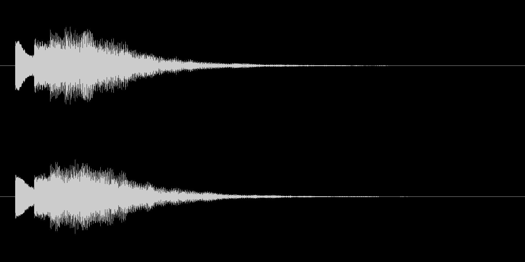 【チャイム 注意03-down1】の未再生の波形