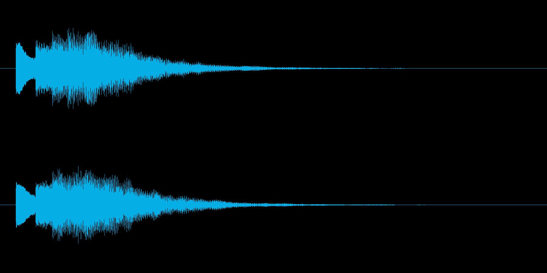 【チャイム 注意03-down1】の再生済みの波形