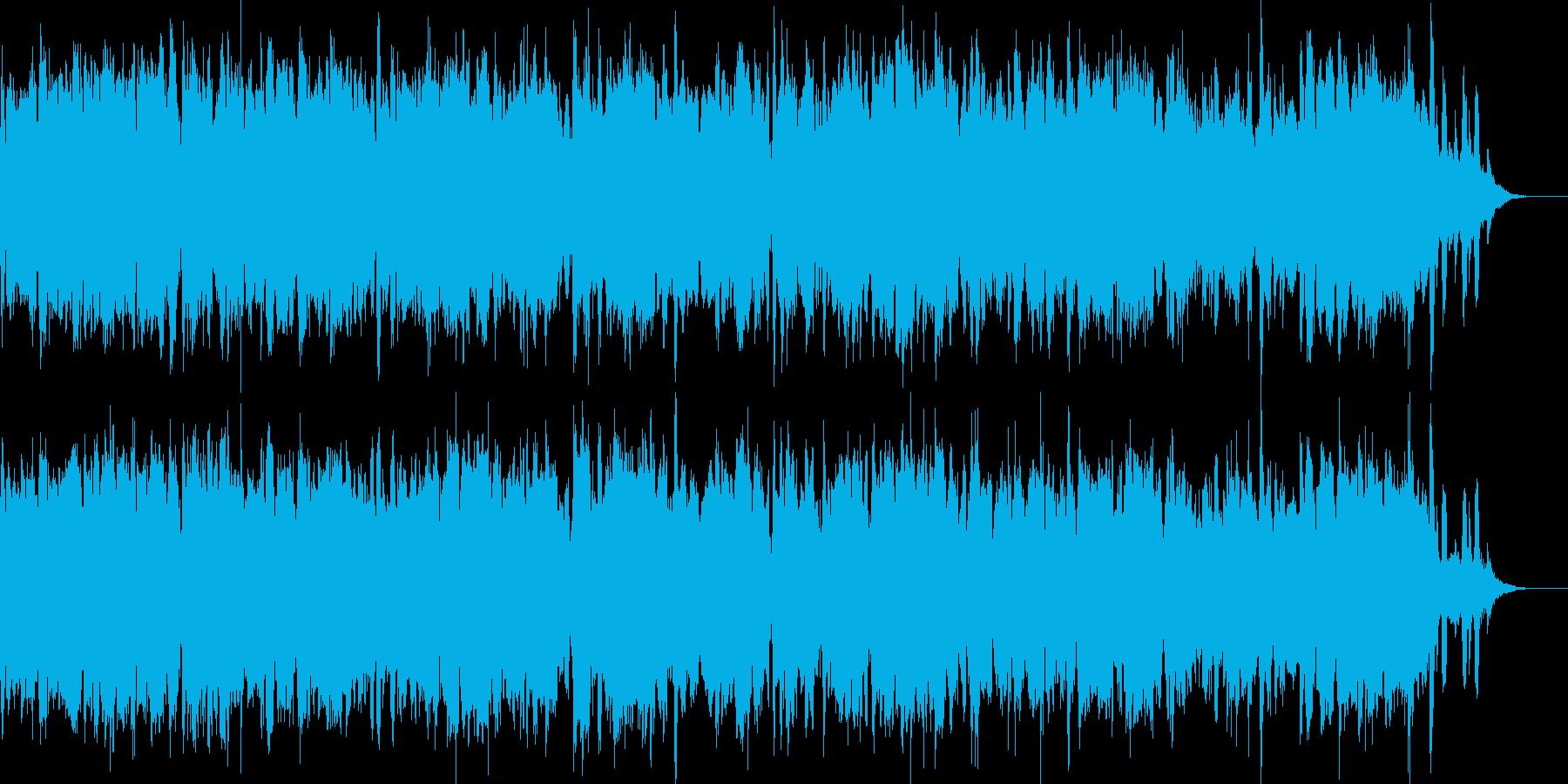 ピアノとシンセで冷気を纏ったドラムン風の再生済みの波形